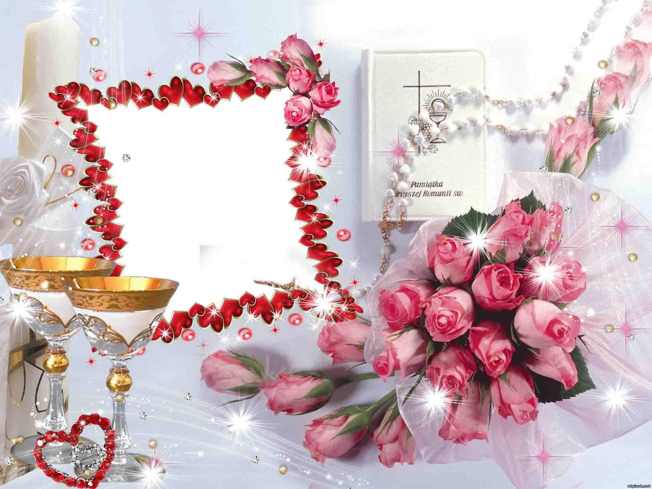 Рамка с днем свадьбы фото